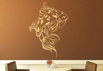 Japanese Koi Wall Decal Asian Style Decoration In My Dreams - Vinyl wall decals asian