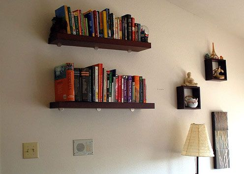 Ideas To Decorate The Wall Wall Bookshelves Empty Wall Spaces