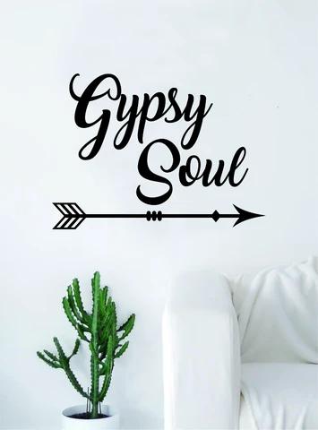 Gypsy Soul Wall Decal Home Decor Room Bedroom Art Vinyl Sticker Quote Teen Kids Baby Girls Inspirational Adventure Travel