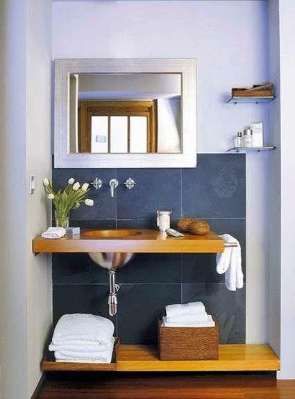 5 tips para decorar ba os peque os ba o peque o cuartos - Consejos para decorar banos pequenos ...