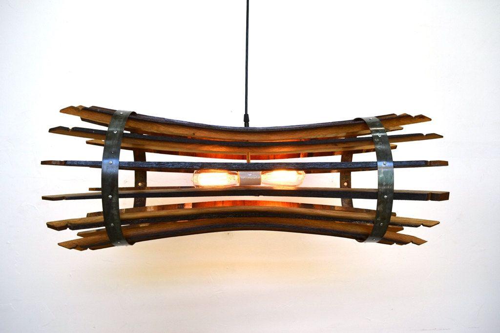 Wine Barrel Stave Chandelier Portunus Made From Reclaimed