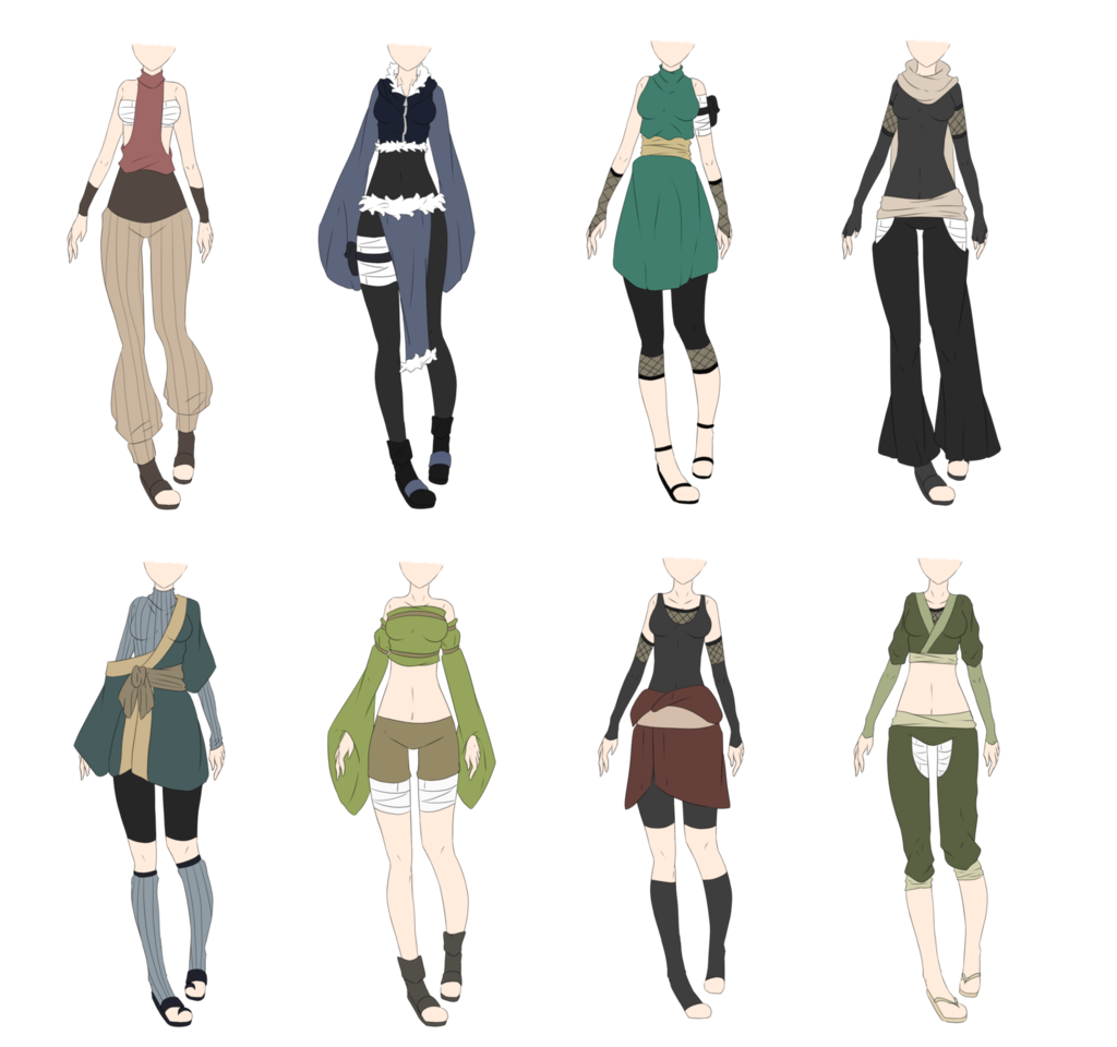 Character Design Outfits : Naruto outfit adoptables closed lower price by