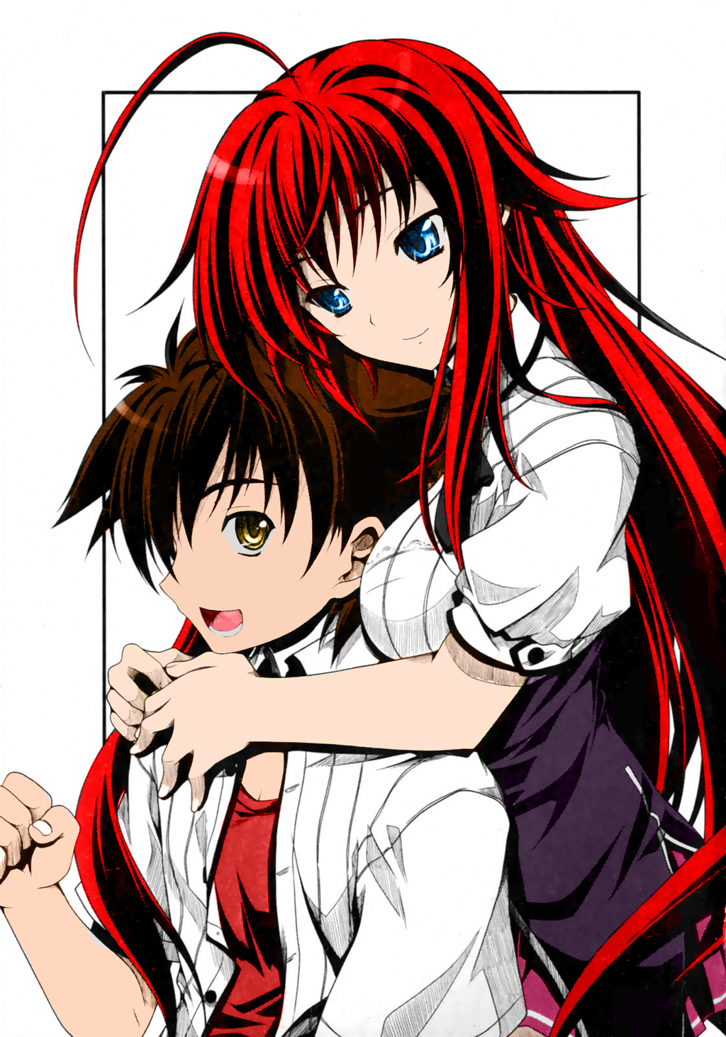 Rias and Issei from High School DxD by fatalgod23 deviantart