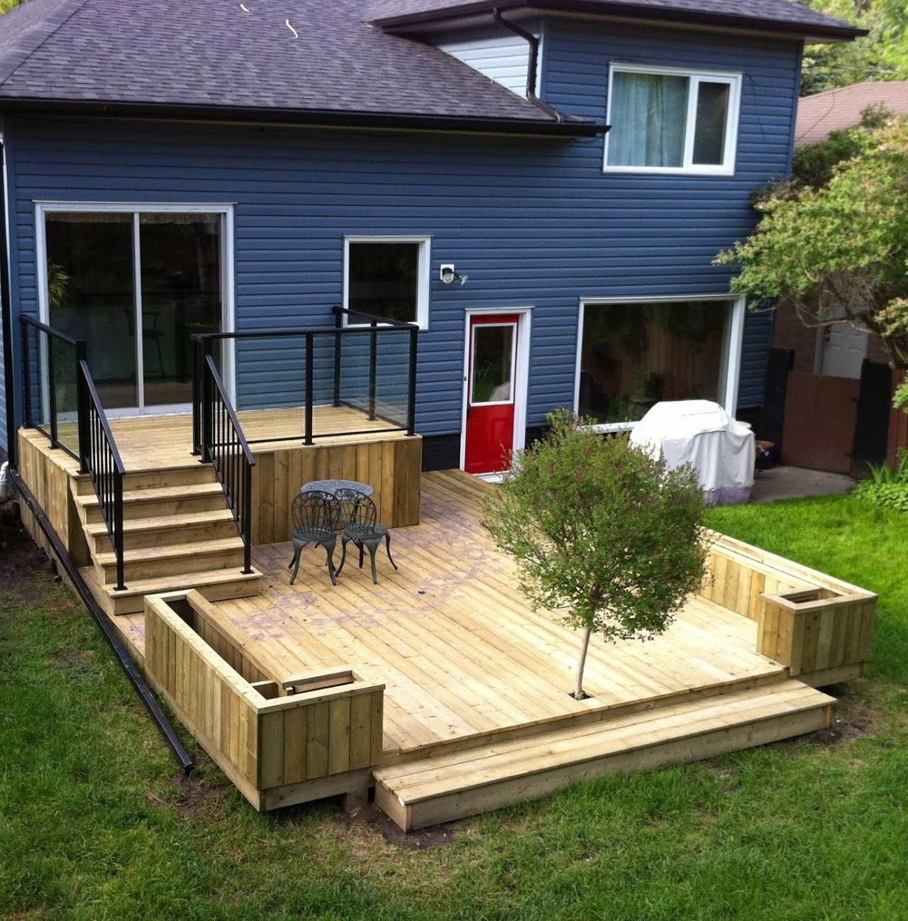 Back steps- have the small porch but then a brick patio ...