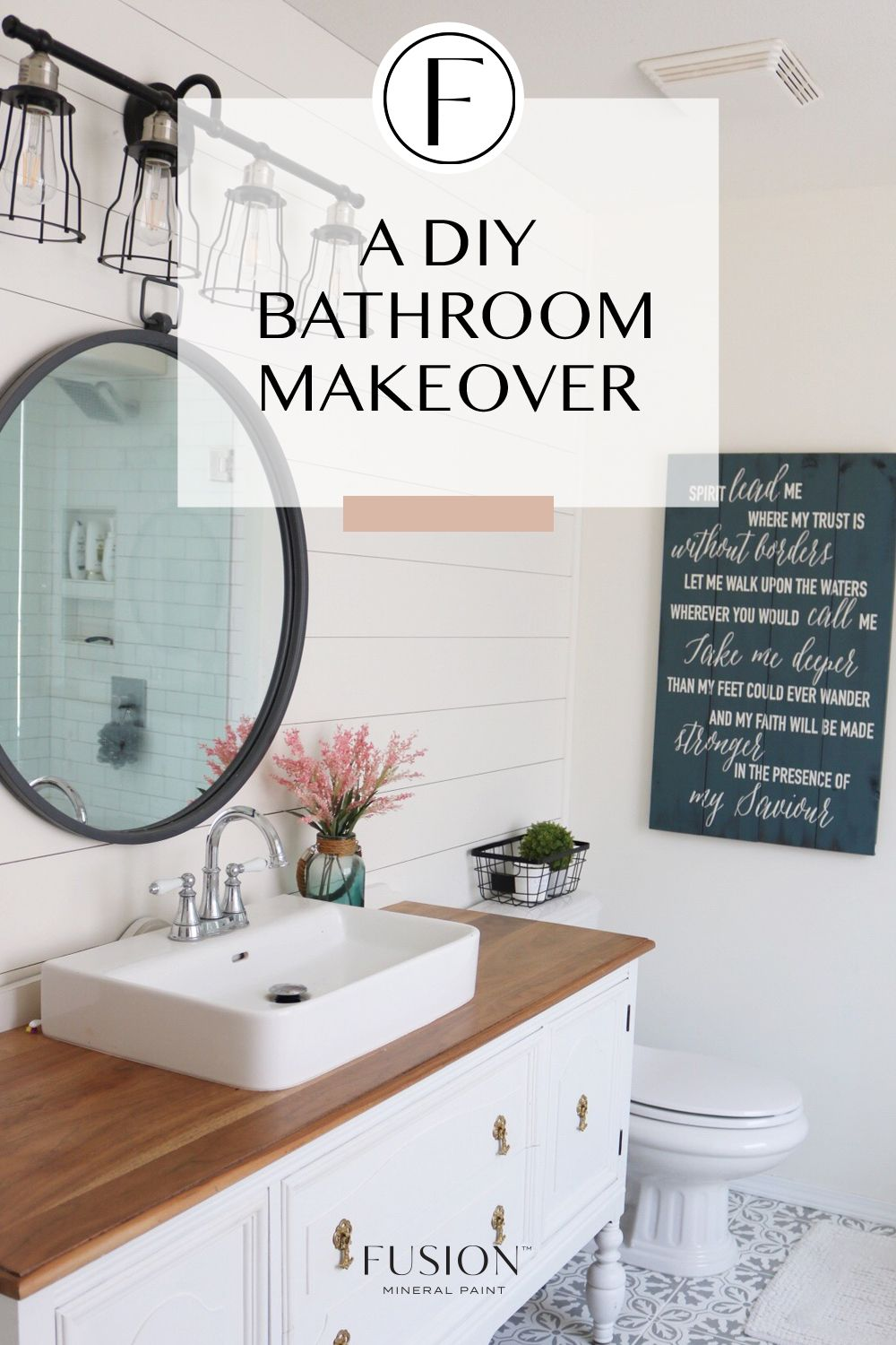 A DIY Bathroom makeover with Fusion Mineral Paint (With