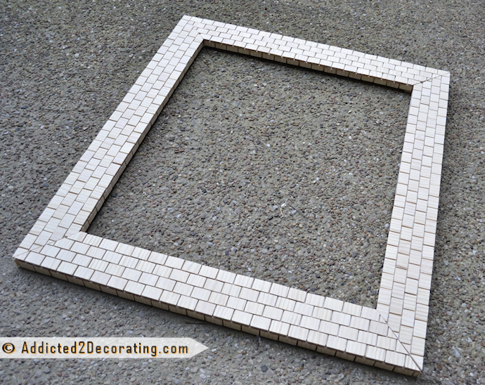 Bathroom Mirror Frame Made Of Wood Yardsticks Cut Up From Addicted 2 Decorating