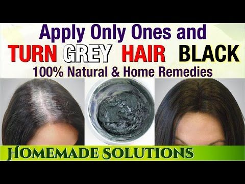 Remove White Hair In Just 10 Minutes With This Amazing Remedy Youtube Color Gray Hair Naturally Thick Hair Styles Thick Hair Remedies