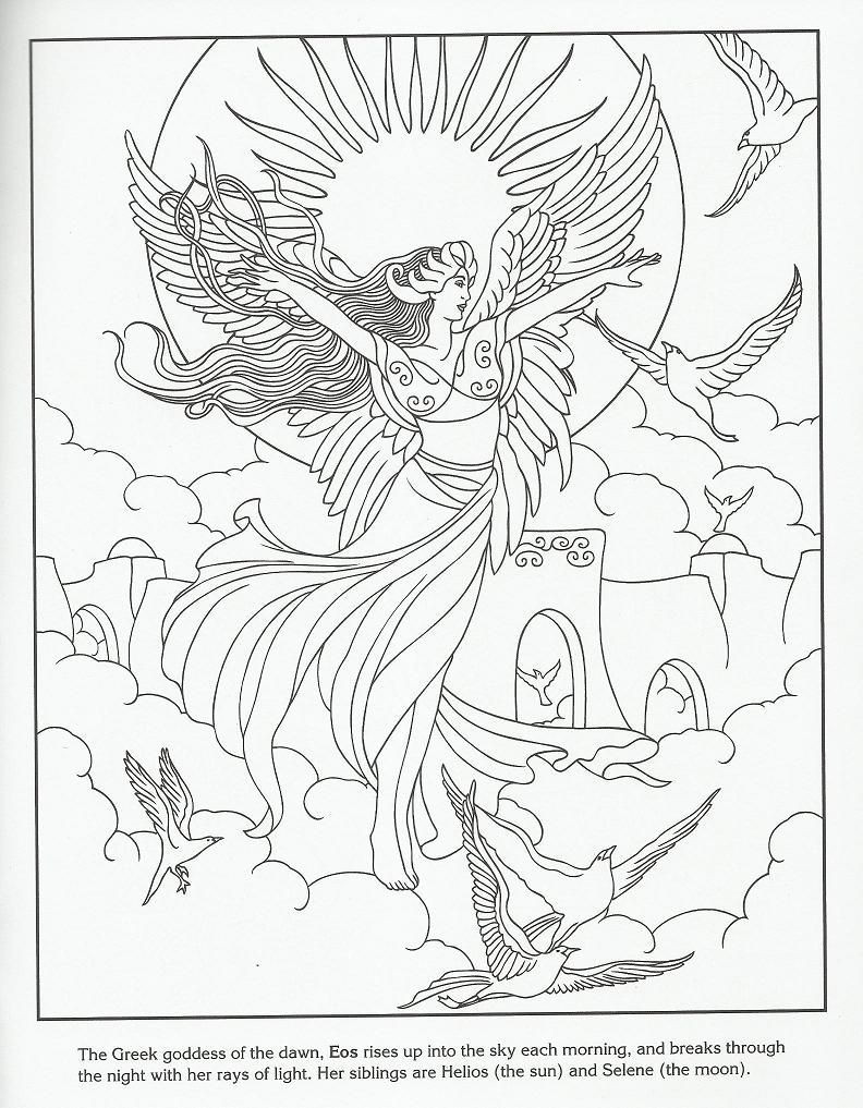 Eos - Greek Goddess of the Dawn | Coloring Pages for SACC ...