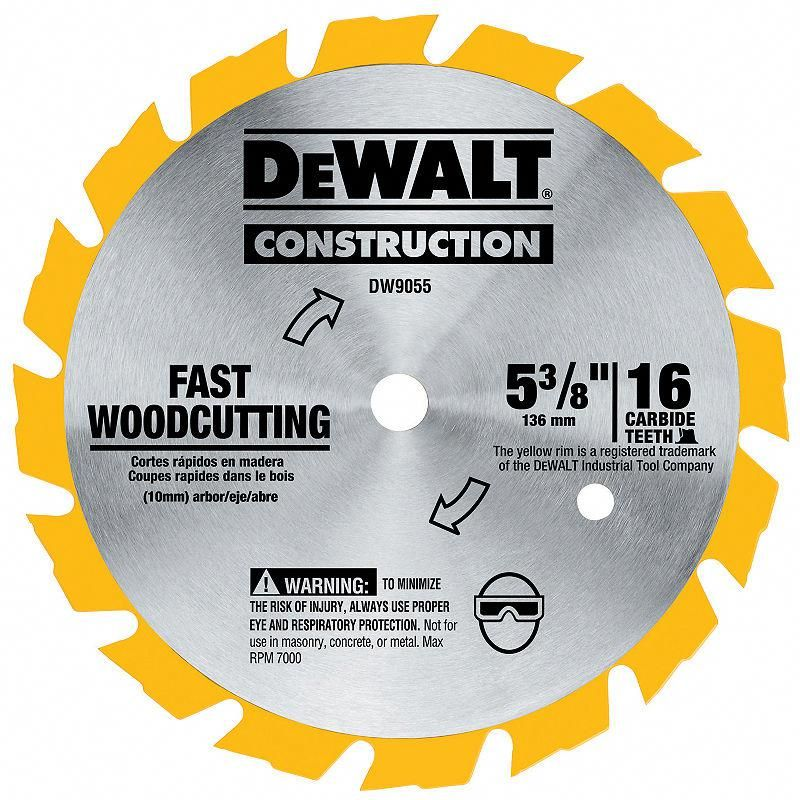 Dewalt Dw9055 5 3 8in Cordless Circular Saw Steelblade Woodsaw Circular Saw Blades Cordless Circular Saw Dewalt