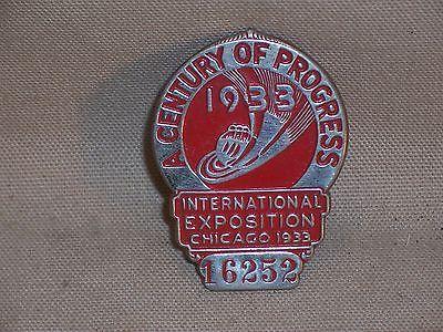 Historical-Memorabilia-Century-of-Progress-Chicago-Worlds-Fair-Rare-Pin-Badge