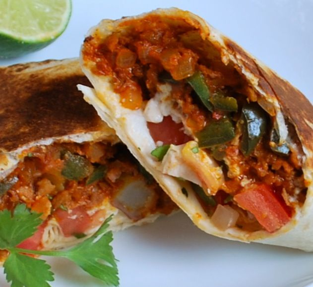 Chili Burritos- Easy way to repurpose leftover soup or make more portable for work lunches