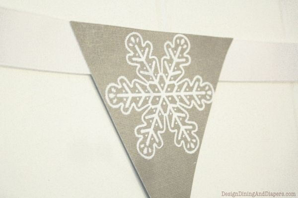 DIY Christmas Bottle Decor and Bunting by Design, Dining + Diapers