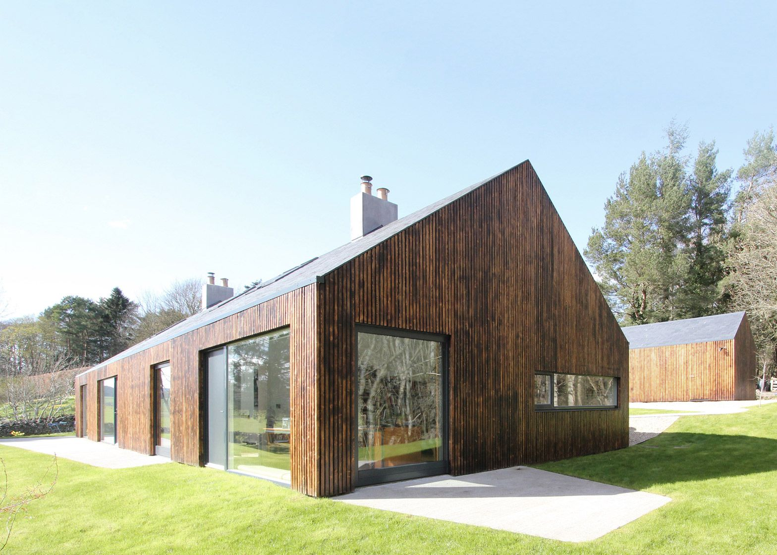 "Edinburgh practice A449 has adapted a ""nondescript"" mid-20th-century dwelling in the Scottish Borders to create a home with scenic views for a writer."