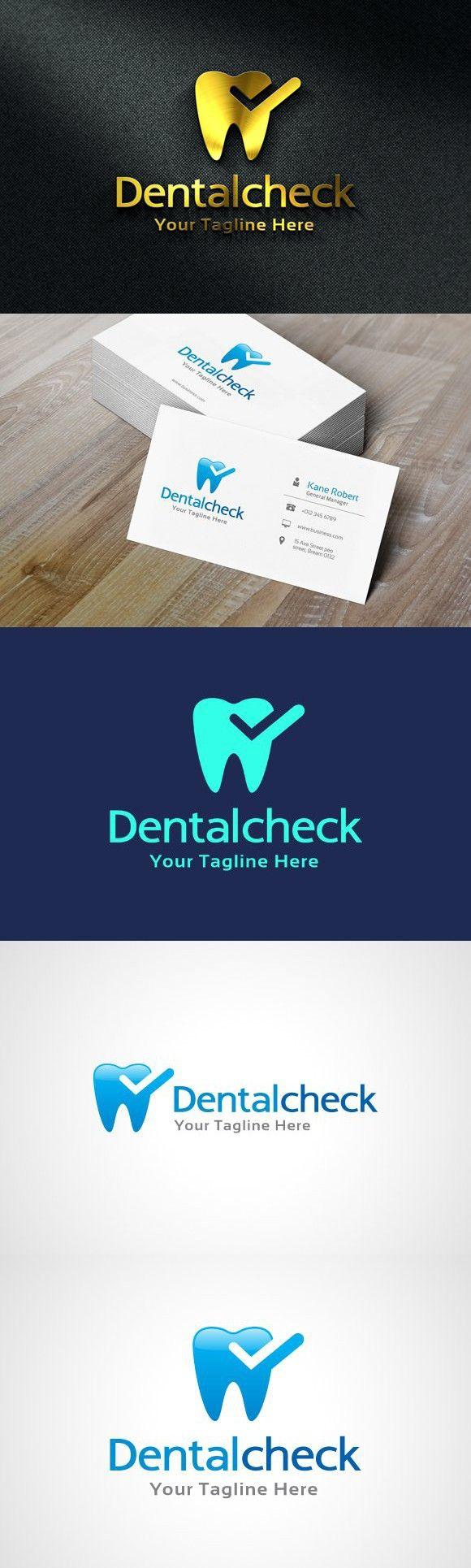 Dental Check Logo Template in 2020 Logo templates, Logos