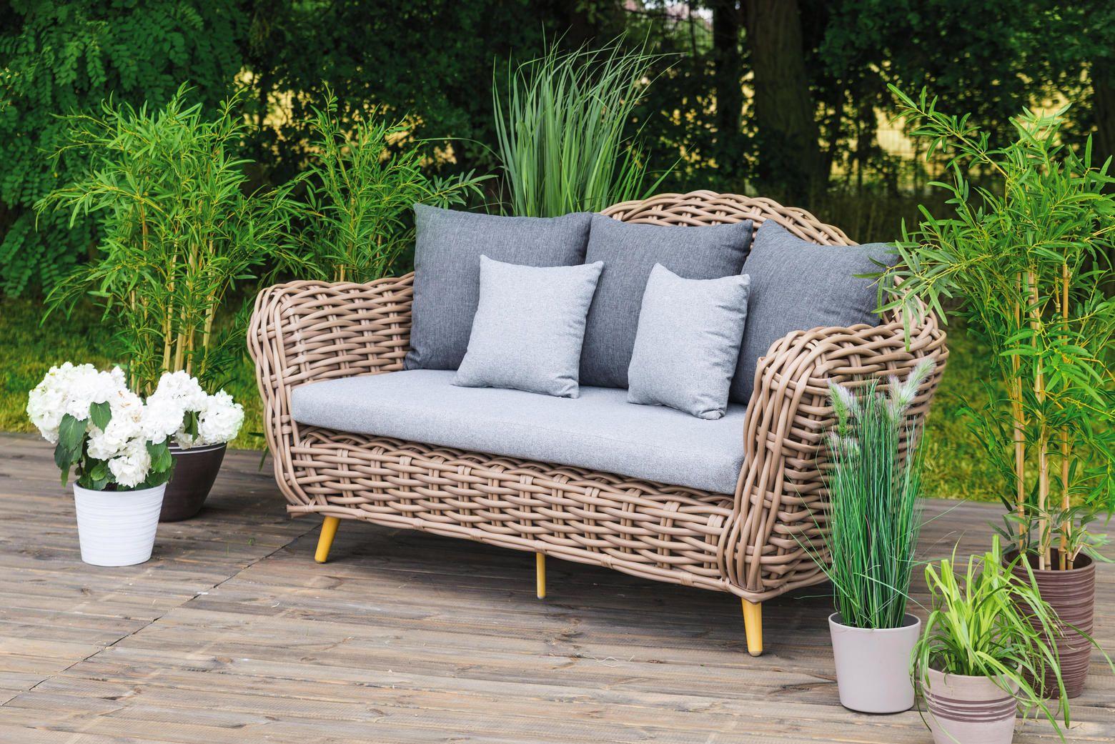 Garten Bank Aus Rattan Fur Gemutliche Stunden Outdoor Sofa Sofa Lounge