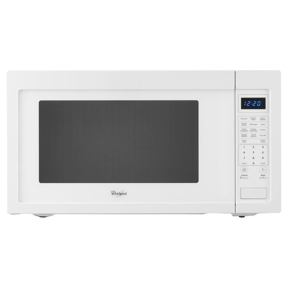Whirlpool 2 2 Cu Ft Countertop Microwave In White Built In
