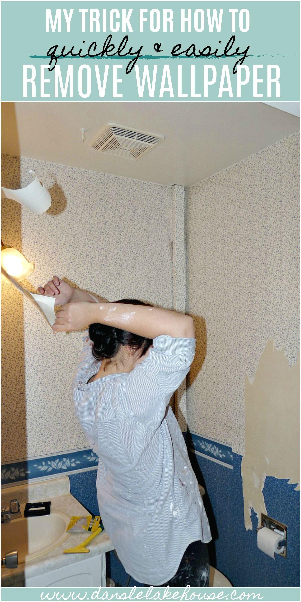 How To Easily Remove Wallpaper Dans Le Lakehouse Removable Wallpaper Easy Diy Decor Diy Renovation