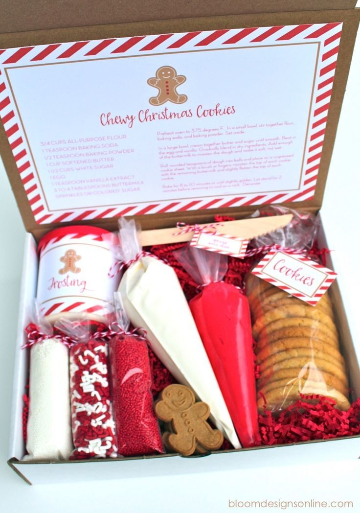Christmas Cookie Decorating Kit.Gift Basket Recipes Holiday Ideas Homemade Christmas
