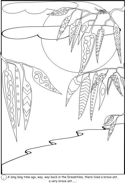 Coloring Pages Aboriginal Animals : Aboriginal colouring sheets art education pinterest
