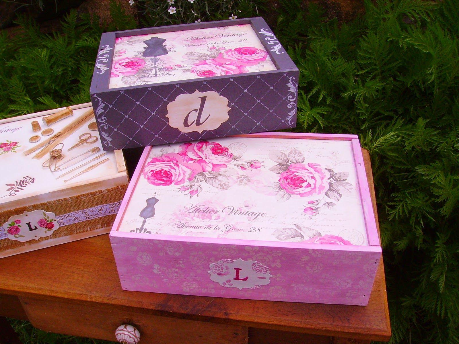 retazos de madera cajas de vino - Cajas De Vino Decoradas