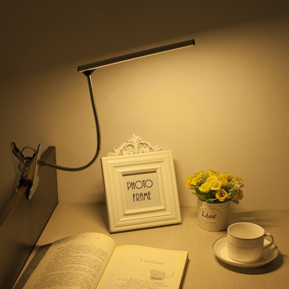 Woerfu Desk Lamp With Clamp Dimmable Led Bedsid Reading Lamp 10level Dimmer With 3 Lighting Modes Small Led Clip Table Lamp Deta With Images Desk Lamp Reading Lamp Lamp