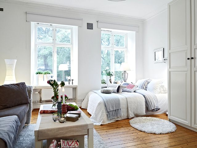 Grey And White Is So Relaxing Just Need To Mix Up Textures To Keep It Cozy Apartment Interior Apartment Room Apartment Interior Design