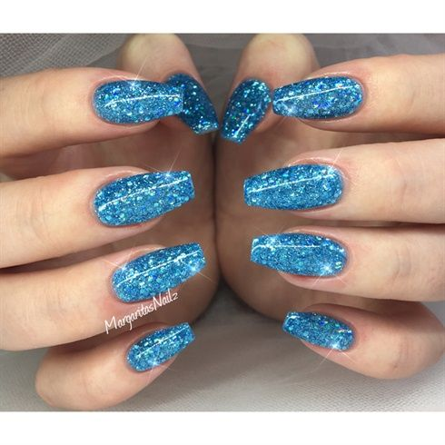 Blue Glitter Nails by MargaritasNailz - Nail Art Gallery ...