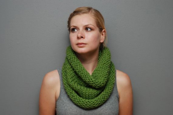 My leamongrass (dark green) colored slouchy cowls.