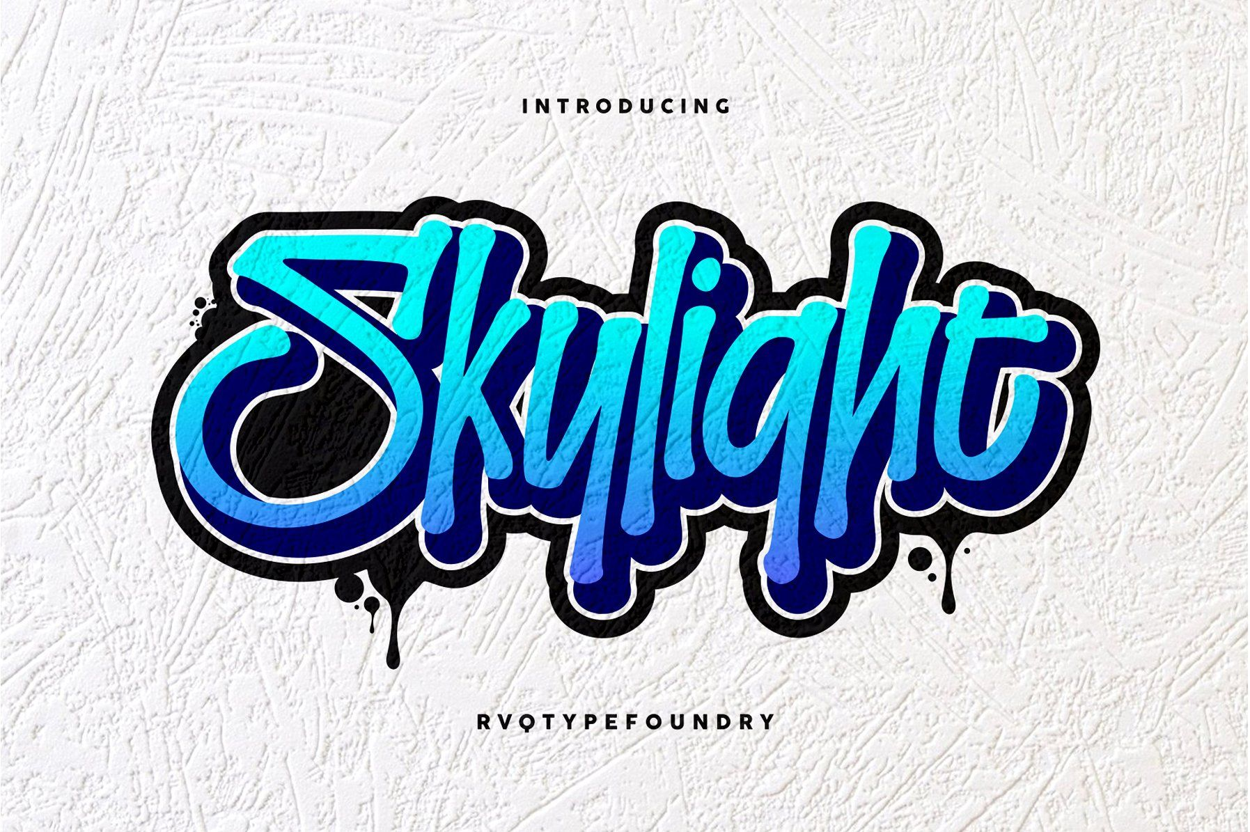 The Skylight Graffiti Is New Font From Rvq Typefoundry Elegant Feel Character Set To Create The Beautiful Combination Just Mix The Uppercase And