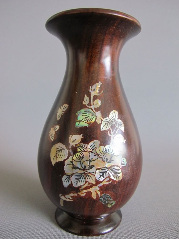 Chinese Rosewood And Mother Of Pearl Vase Arts Uaca Pinterest