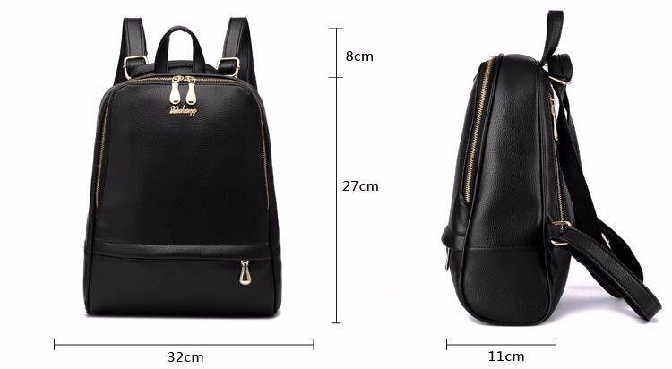 e52dd98cc1da Кожаный рюкзак женщина мода черные кожаные рюкзаки для леди искусственная  кожа высокое качество женщина рюкзаки 1BB04