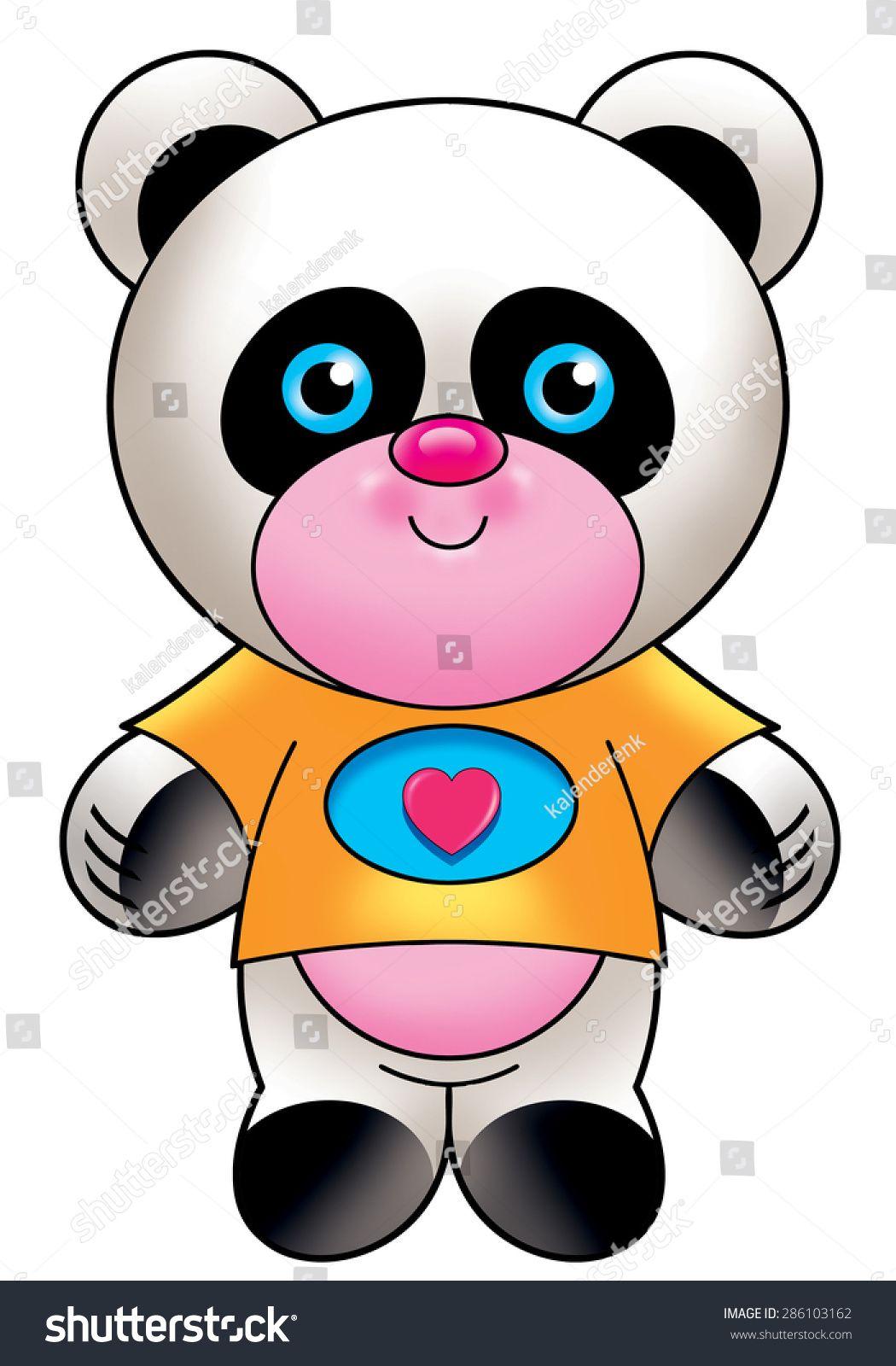 cute panda | Coloriage