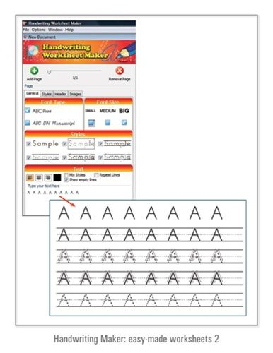 Handwriting Worksheet Maker With This Program All You