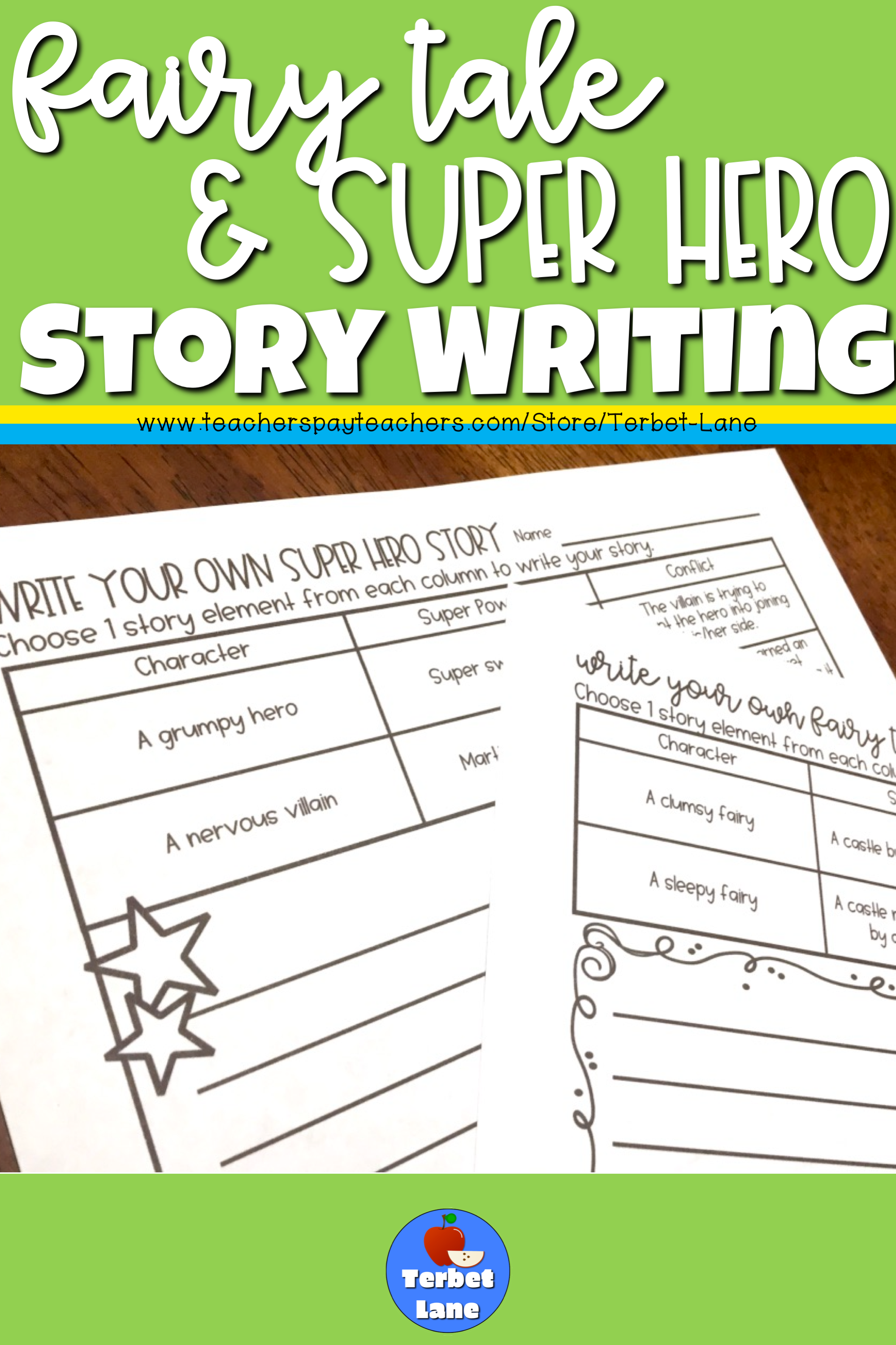 Fairy Tale And Super Hero Writing Bundle