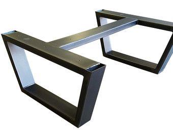chevron patas de la mesa de comedor de metal base