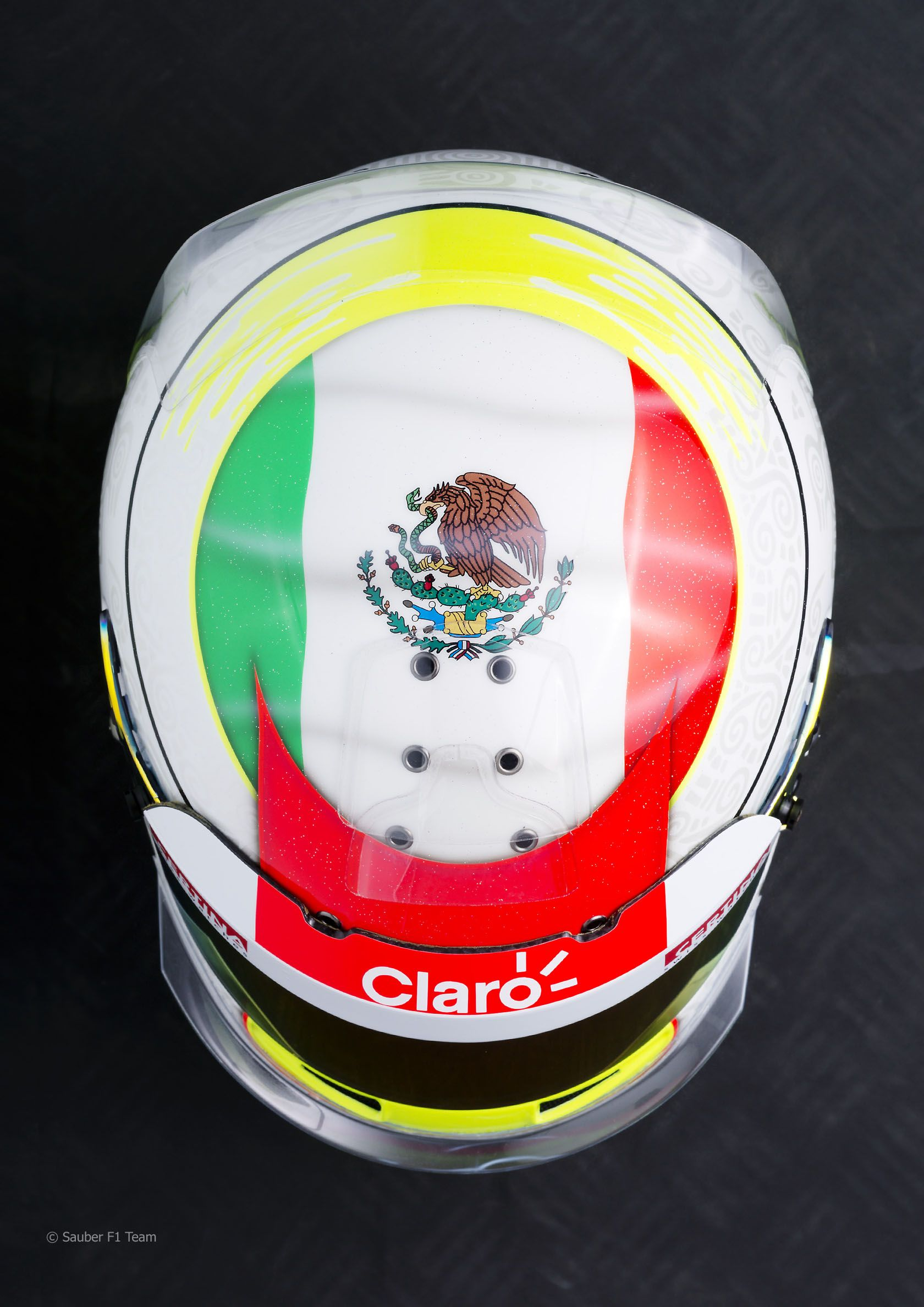 Sergio Perez helmet, Sauber, 2012 Sergio perez, Helmet