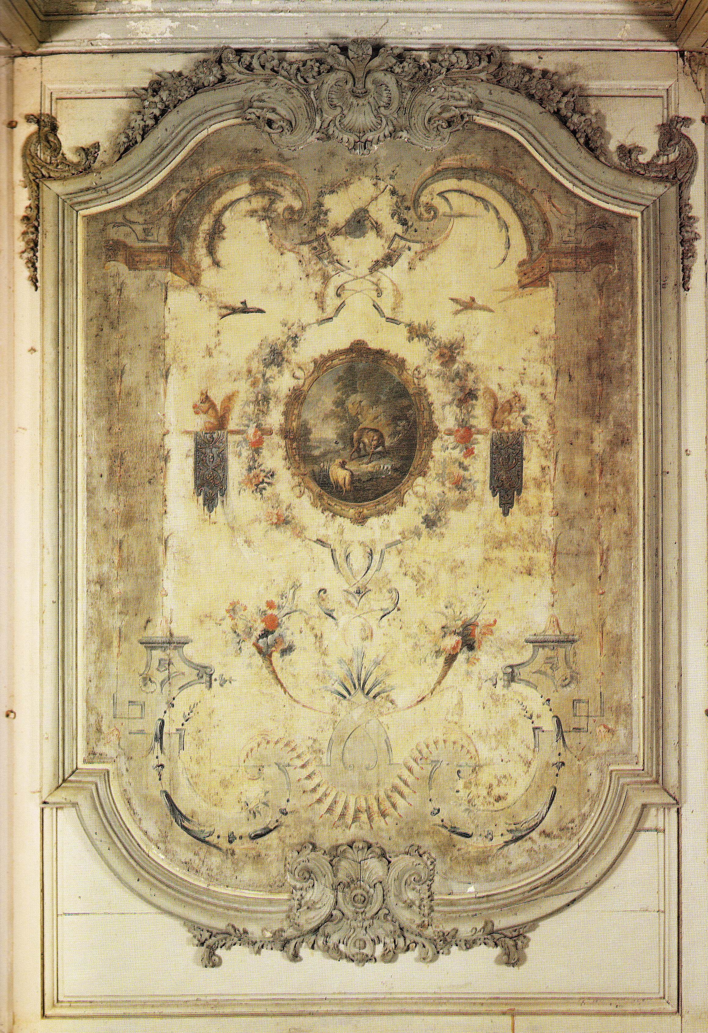 Arabesque panel by Claude Audran in the salon at Chateau de ...
