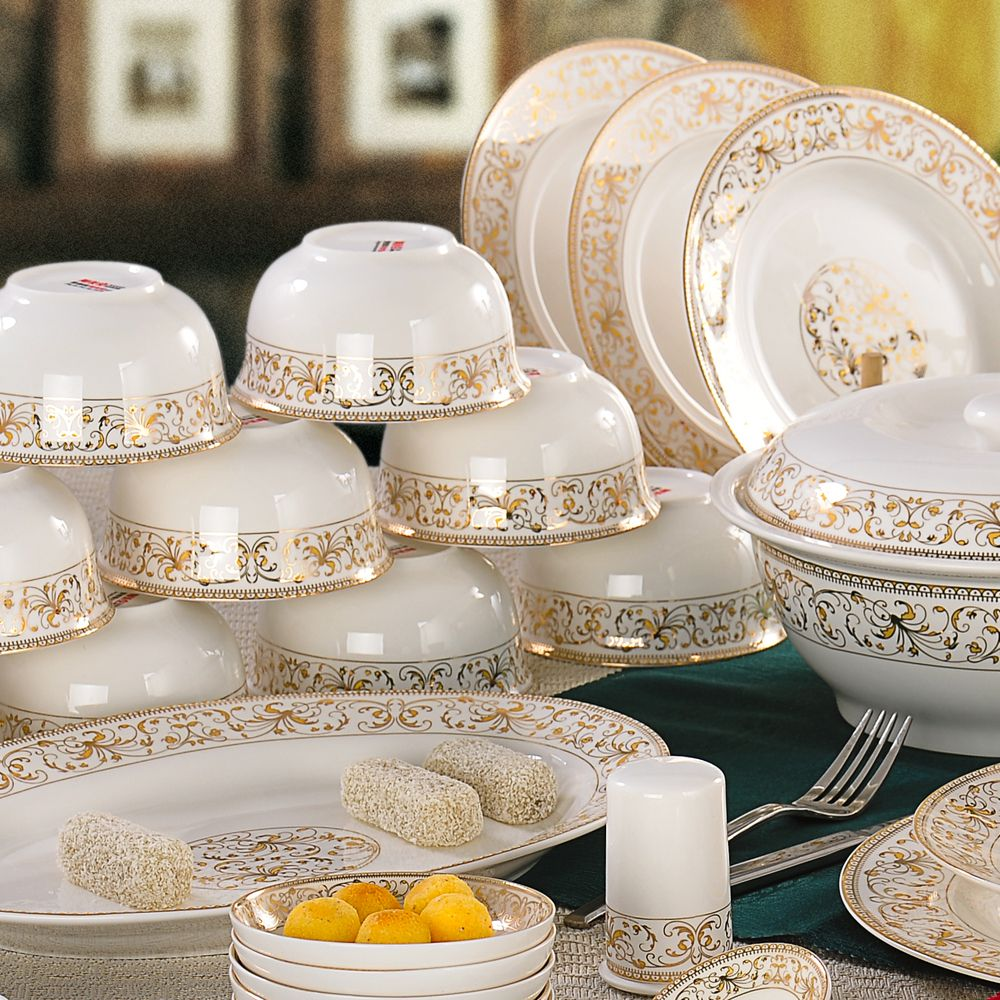 floral+china+dinnerware | Fashion 56 pieces floral pattern dishes ...