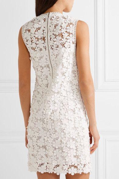 SEA - Appliquéd guipure cotton-lace mini dress