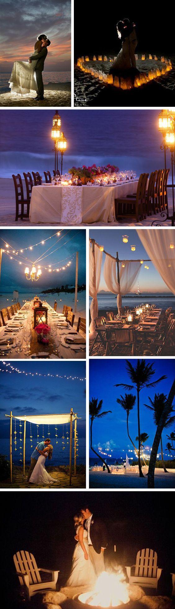 night beach weddings Beach Weddings at Night... destination wedding?
