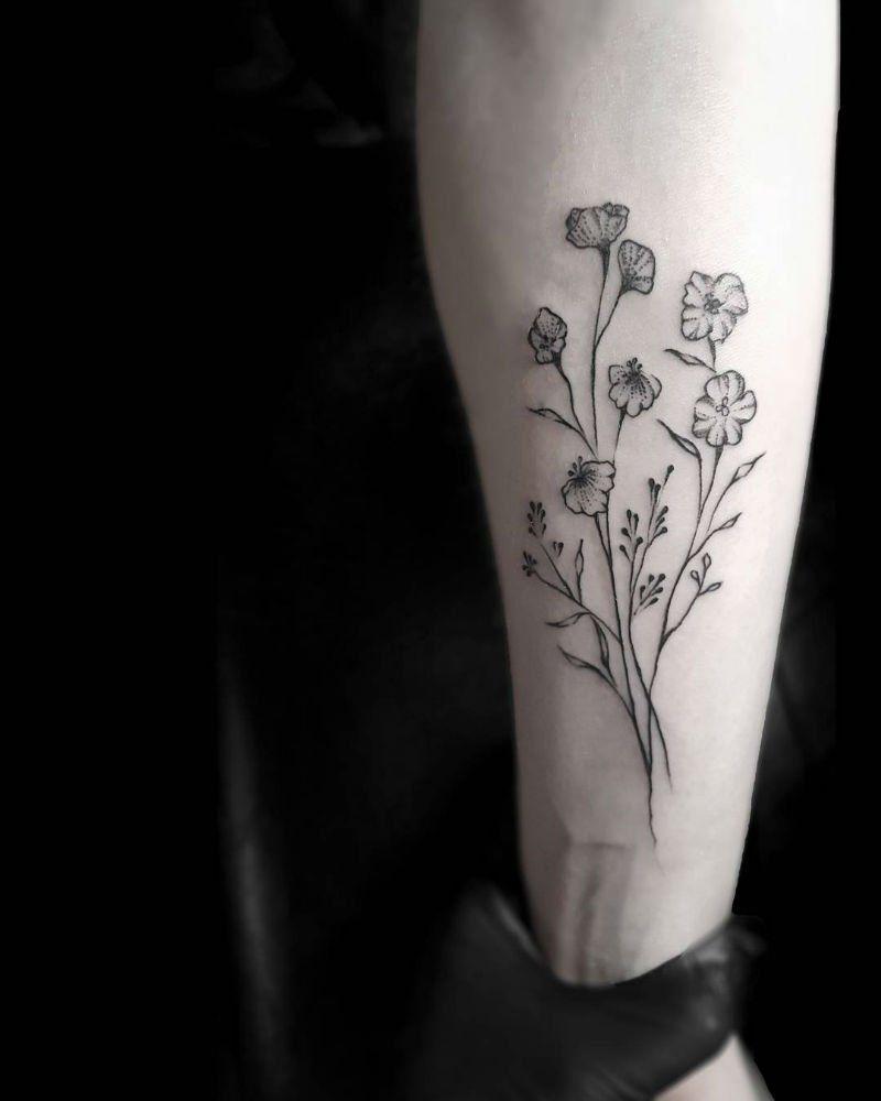 Minimalist Simple Flower Circle Tattoo: Stella Luo Creates Mesmerizing Minimalist Tattoos