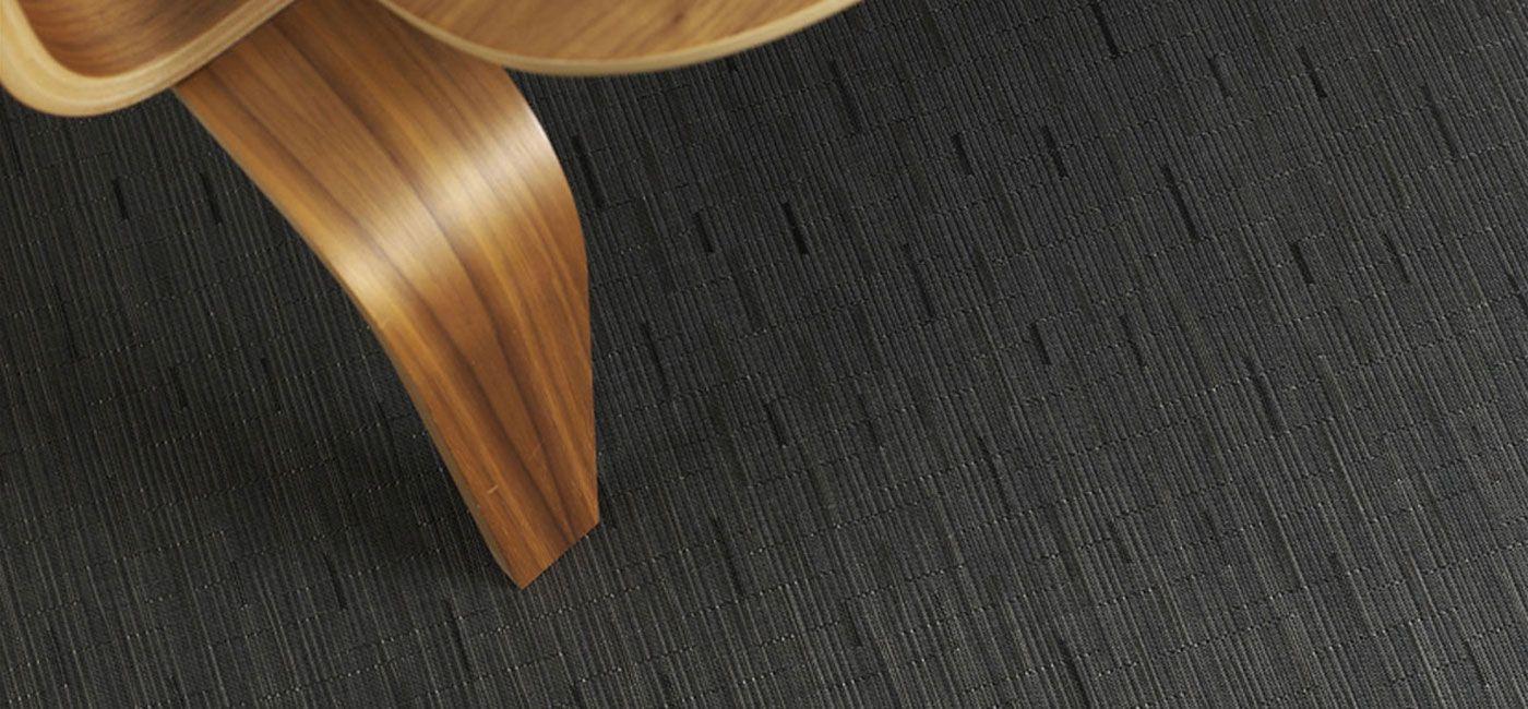 Chilewich Floor Woven Floor Mats Bamboo Smoke
