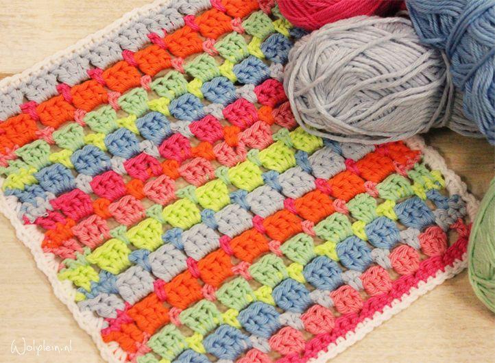 Opsteker Van De Maand Bloksteek Pontos De Crochet Crochet