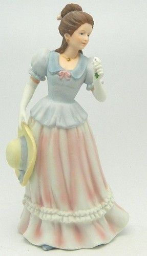 Sold lady camille 1452 homco home interiors porcelain 8 figurine vintage woman hat