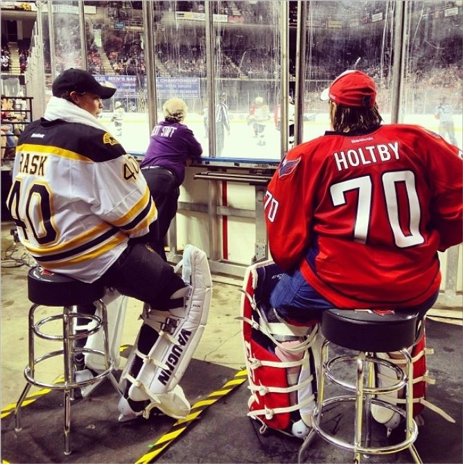 Holtby Rask Watch 2nd Period Baltimore Classic Action Instagram Washingtoncaps Capitals Hockey Nhl Players Washington Capitals