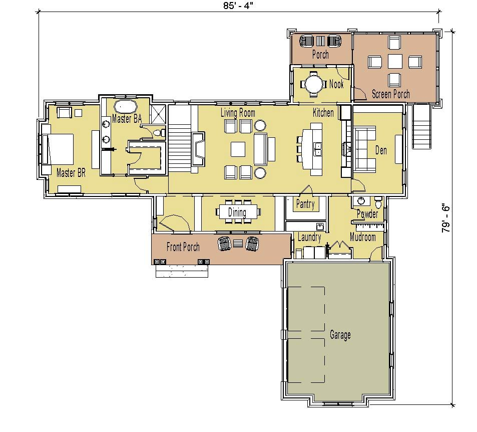 floor plans ranch with walk out basement and screen porch