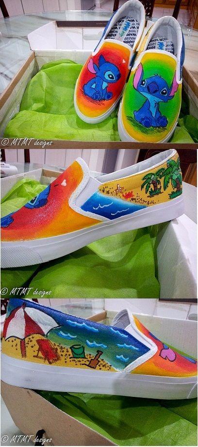 9de31e4fe Stitch beach themed shoes!!
