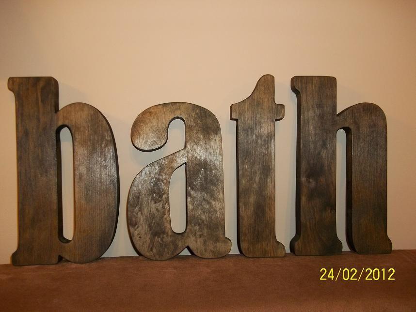 Drewniany Napis Lazienki Bath Z Drewna Litery 2463864302 Oficjalne Archiwum Allegro Decor Home Decor Home