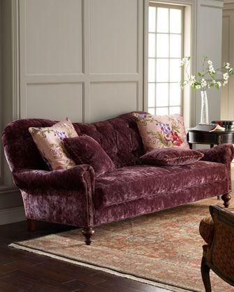 Old Hickory Tannery Tufted Velvet Sofa