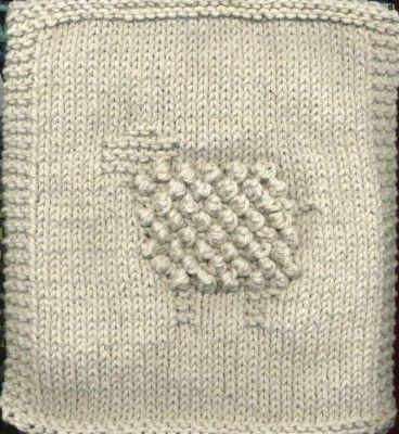 Knit Bobbly Sheep Dishcloth Really Cute Made In Lily Sugar N Cream
